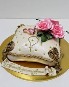 Детский торт Крестильная подушка