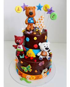 Детский торт Мишки-мимишки
