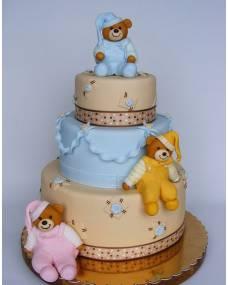 Детский торт Мишки сони