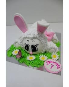 Детский торт Зайка на полянке