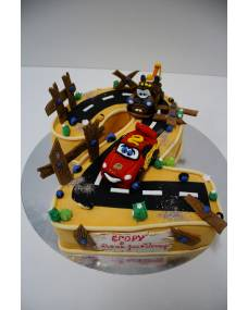 Детский торт Тачки на цифре
