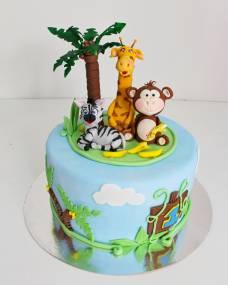 Детский торт Веселый зоопарк