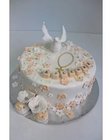 Детский торт Крестины 3