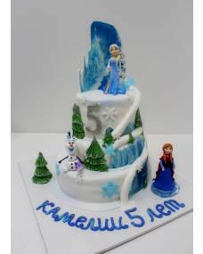 Детский торт Холодное сердце 4