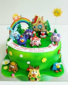 Детский торт Компания смешарикив