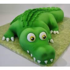 Детский торт Крокодил