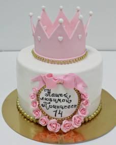 Детский торт Корона в розах