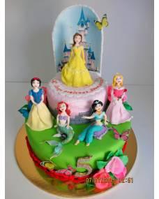Детский торт Принцессы Дисней