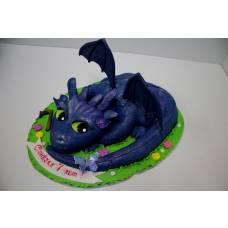 Детский торт Дракончик Беззубик