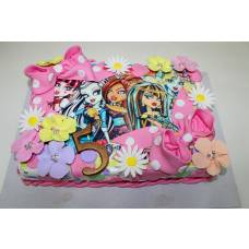 Детский торт Фототорт Монстер хай