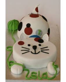 Детский торт Забавный кот