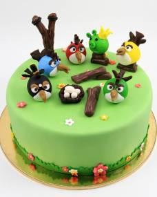 Детский торт Бёрдс на поляне