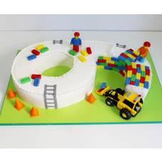 Детский торт Лего-конструктор