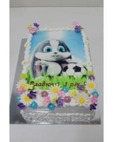 Детский торт Фототорт Зайка