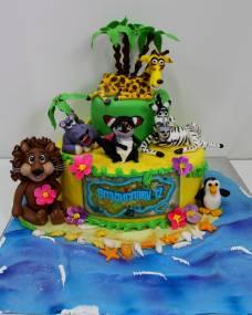 Детский торт Мадагаскар