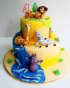 Детский торт Мадагаскар 3