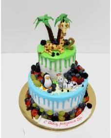 Детский торт Мадагаскар 2