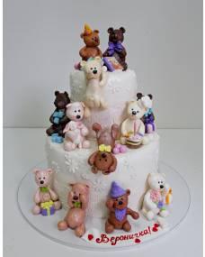 Детский торт Много мишек 1