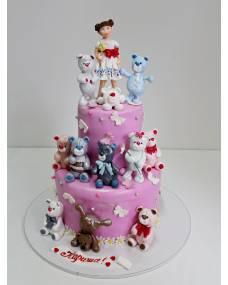 Детский торт Много мишек 2