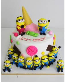 Детский торт Много миньонов