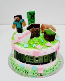 Детский торт Майнкрафт 3