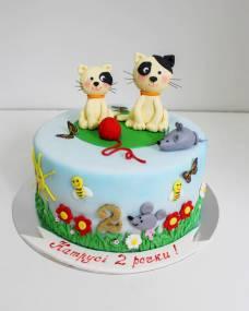 Детский торт Мяу-мяу