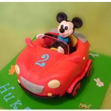 Детский торт Микки Маус в авто