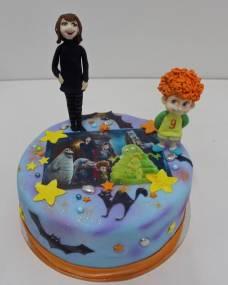 Детский торт Монстры на каникулах