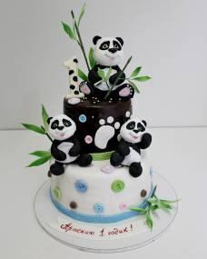 Детский торт Озорные пандочки