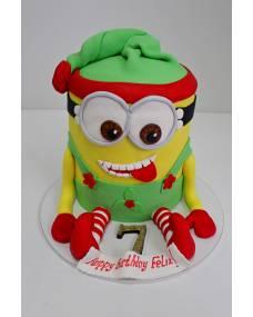 Детский торт Новогодний миньон