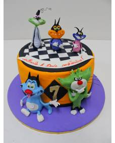 Детский торт Огги и кукарачи