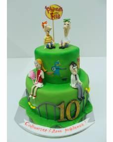 Детский торт Финес и Ферб