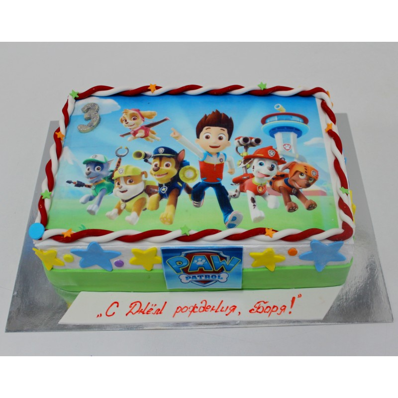 фото-торт щенячий патруль фото