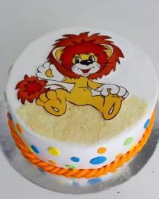 Детский торт Фототорт Львенок