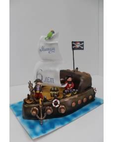 Детский торт Пиратский кораблик 2