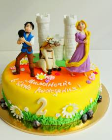 Детский торт Рапунцель-2