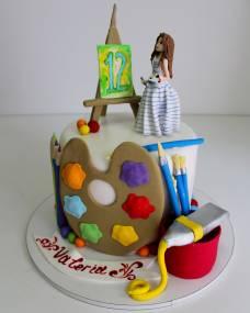 Детский торт Маленькая художница