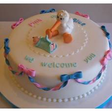 Детский торт Аист с подарком