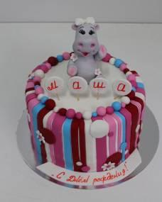 Детский торт Полосатый бегемотик