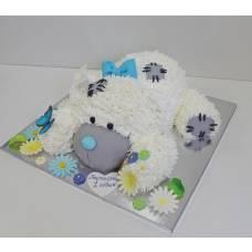 Детский торт Тедди в ромашках