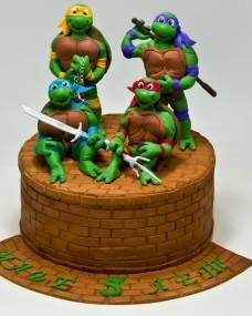 Детский торт Черепашки Ниндзя