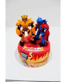 Детский торт Трансформеры герои