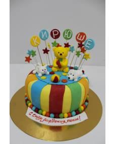 Детский торт Желтый медвежонок