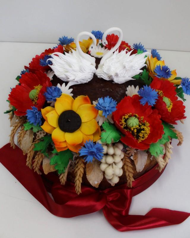 Цветы на каравай фото