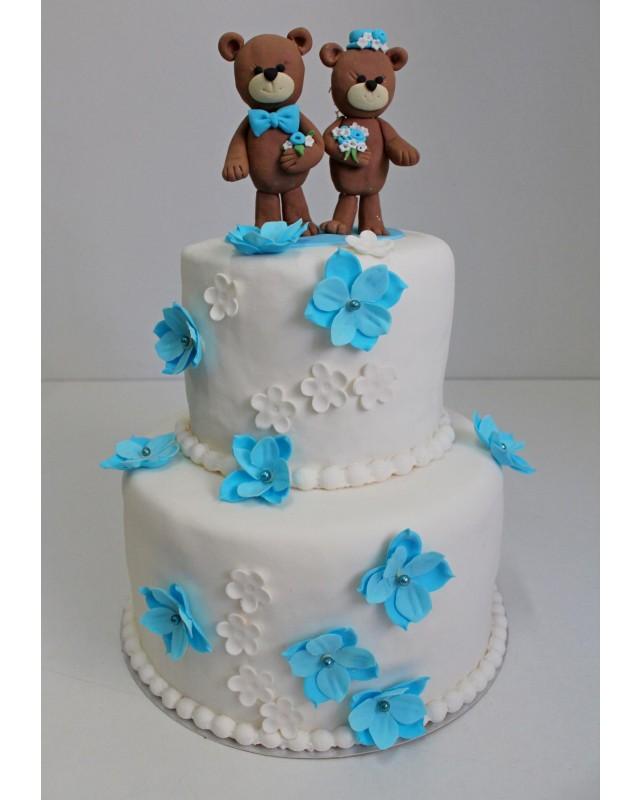 Свадебный торт свадьба мишек