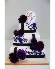 Свадебный торт Аметист