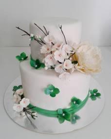 Свадебный торт Яблоневый цвет