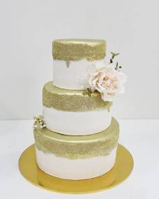 Свадебный торт Нежно-золотой