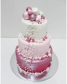 Свадебный торт Шары-горохи