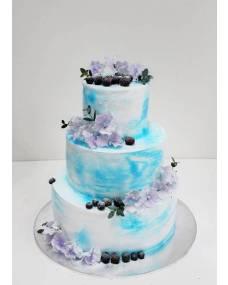 Свадебный торт Голубая мечта